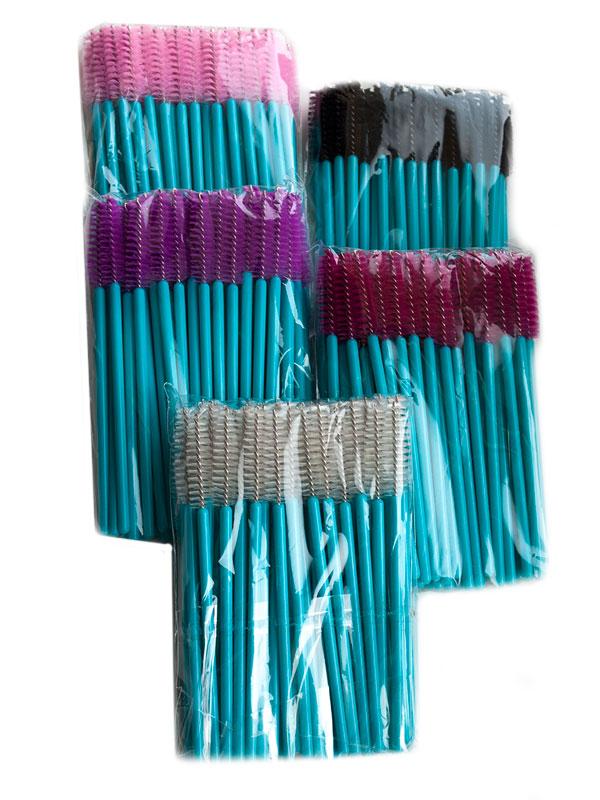 Щеточки для ресниц синяя ножка (50шт.)