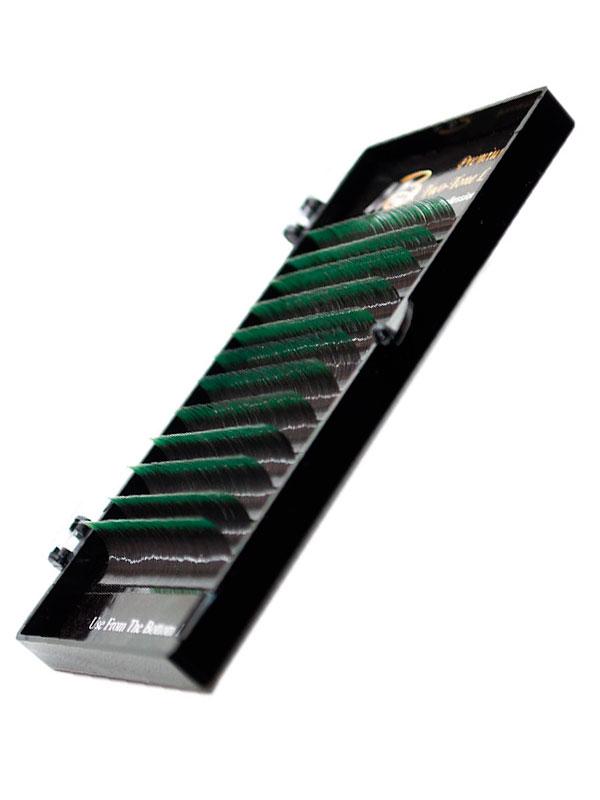 Ресницы на ленте ДВА ТОНА MIX Max-Beauty зеленые