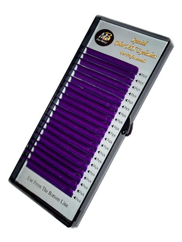 Фиолетовые ресницы на ленте (MIX) Max-Beauty