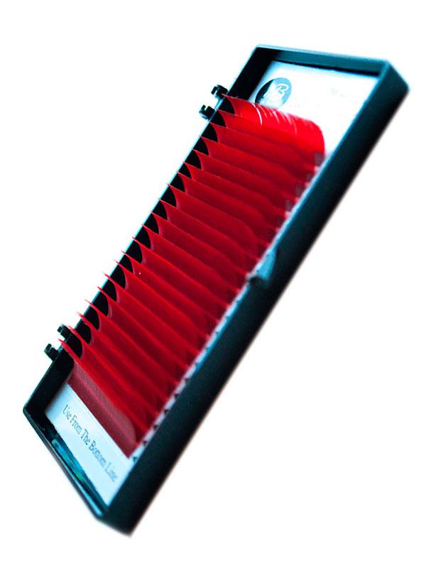 Красные (винные) ресницы на ленте (MIX) Max-Beauty
