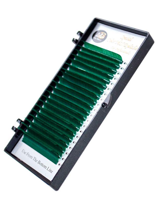 Зеленые ресницы на ленте (MIX) Max-Beauty