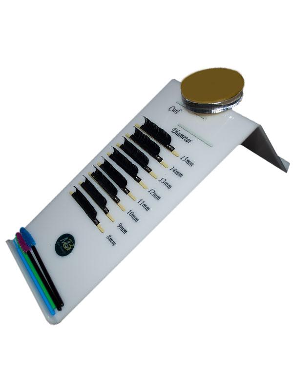 Планшет для ресниц с уклоном Max-Beauty 11*21