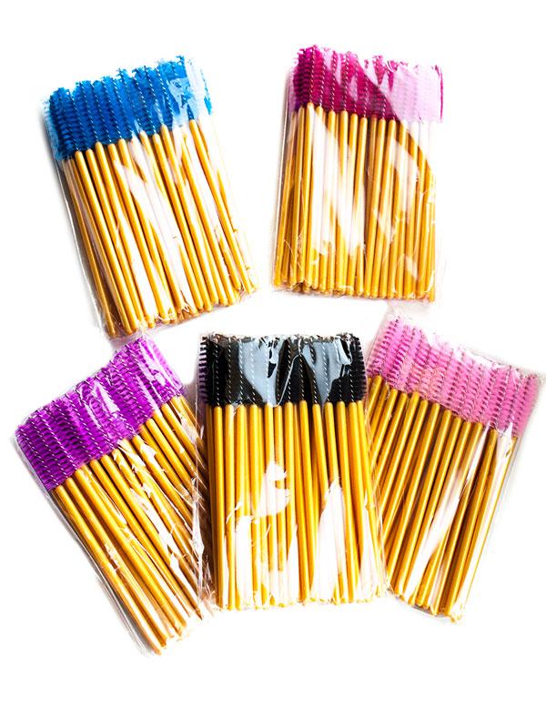 Щеточки для ресниц в цвете золота (50 шт.)
