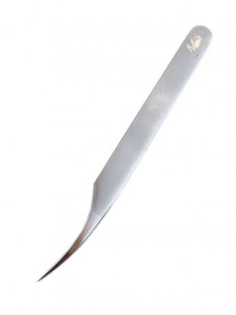 Пинцет для наращивания ресниц прямой SILVER Max-Beauty