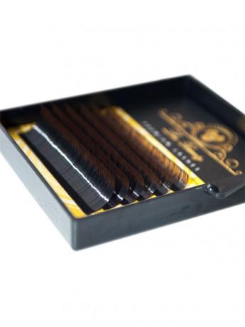 Ресницы омбре Два тона MIX Lux Beauty черный\коричневый (6 лент)