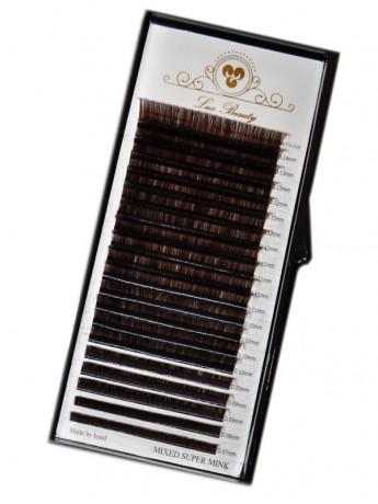 Коричневые ресницы MIX Lux Beauty (20 лент)