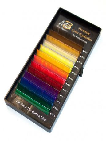 Цветные ресницы РАДУГА на ленте Max-Beauty