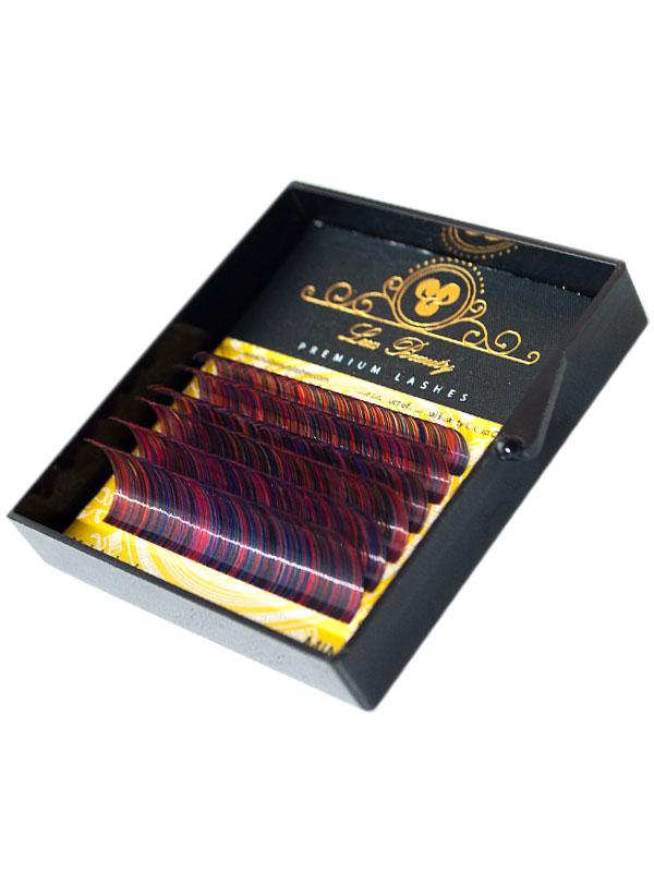 Цветные ресницы RAINBOW MIX Lux Beauty (6 лент)