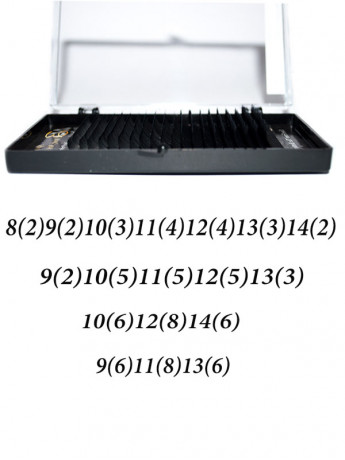 Ресницы на ленте MIX Max-Beauty (толщина 0,05\0,07\0.085)