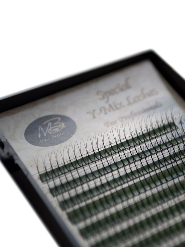 Пучковые ресницы Y(2D) Max-Beauty MIX(толщина 0.07)